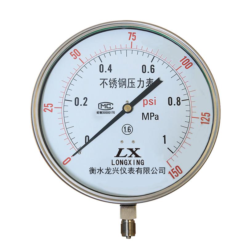 Y-200/250BF 不锈钢压力表